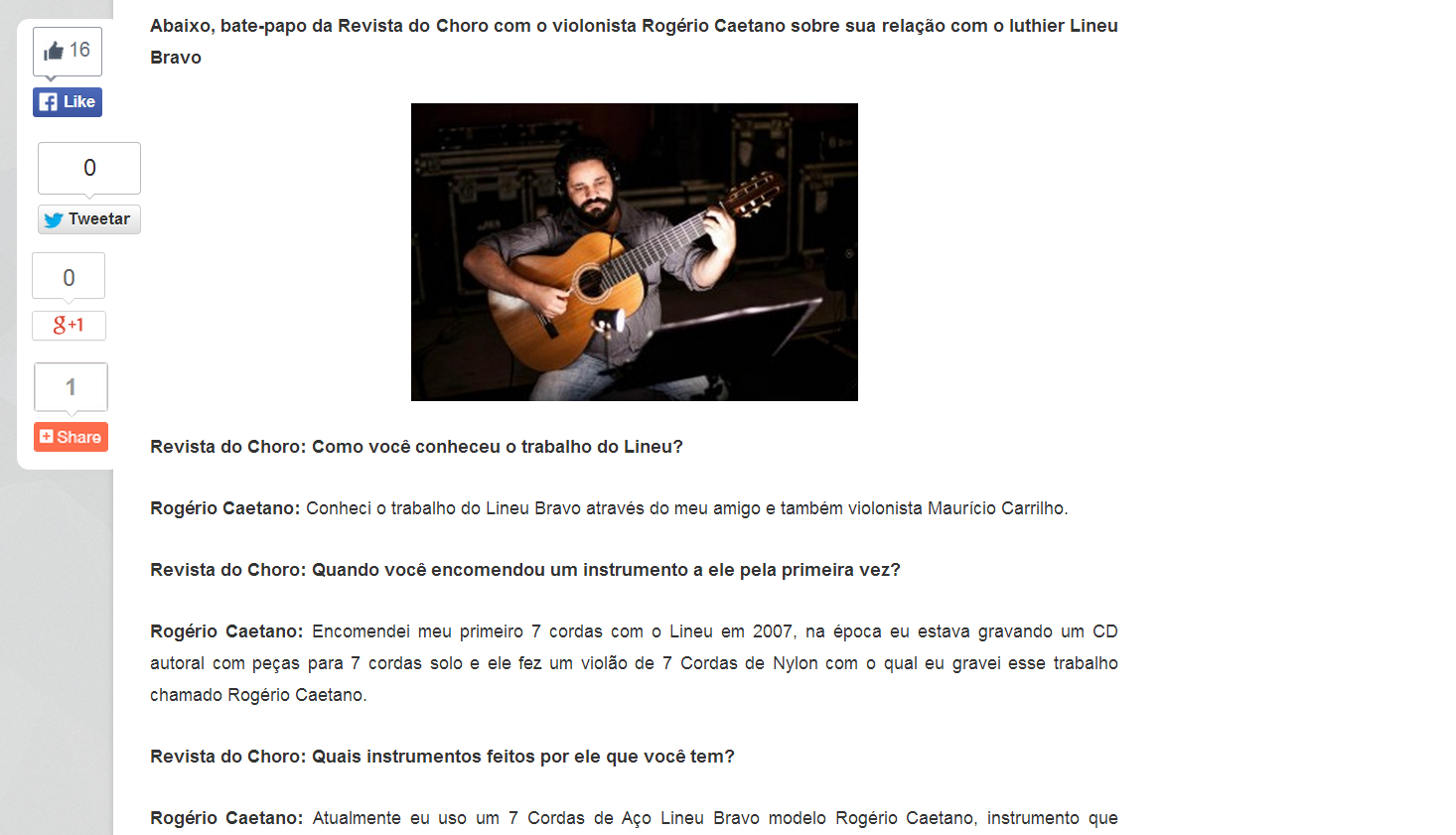 Lineu revista do Choro2ed
