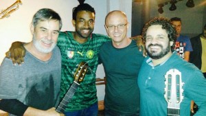 Marco Pereira, Manoel Lopes, Lineu Bravo and Rogério Caetano at the Workshop / Picture:  Manoel Lopes