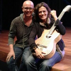 Luthier Lineu Bravo e a cantora Zélia Duncan/Foto: Luciana Goulart