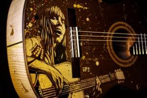 Detalhe da frente do violão/Foto: Pedro Ivo Prates
