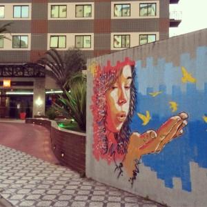 Obra de Felipe Rezende no Hotel Ibis